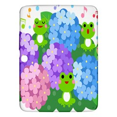 Animals Frog Face Mask Green Flower Floral Star Leaf Music Samsung Galaxy Tab 3 (10 1 ) P5200 Hardshell Case