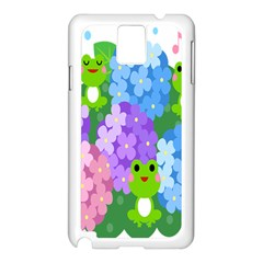 Animals Frog Face Mask Green Flower Floral Star Leaf Music Samsung Galaxy Note 3 N9005 Case (white) by Mariart