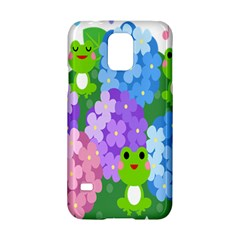 Animals Frog Face Mask Green Flower Floral Star Leaf Music Samsung Galaxy S5 Hardshell Case  by Mariart