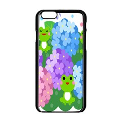Animals Frog Face Mask Green Flower Floral Star Leaf Music Apple Iphone 6/6s Black Enamel Case by Mariart