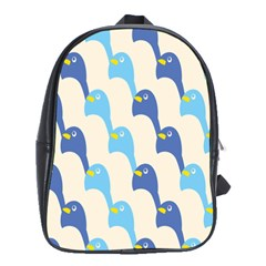 Animals Penguin Ice Blue White Cool Bird School Bags(large)