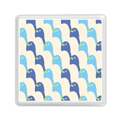 Animals Penguin Ice Blue White Cool Bird Memory Card Reader (square)  by Mariart
