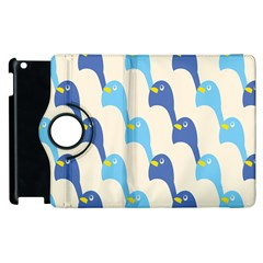 Animals Penguin Ice Blue White Cool Bird Apple Ipad 3/4 Flip 360 Case by Mariart