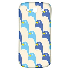 Animals Penguin Ice Blue White Cool Bird Samsung Galaxy S3 S Iii Classic Hardshell Back Case by Mariart
