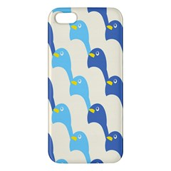 Animals Penguin Ice Blue White Cool Bird Apple Iphone 5 Premium Hardshell Case by Mariart