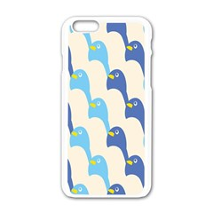 Animals Penguin Ice Blue White Cool Bird Apple Iphone 6/6s White Enamel Case by Mariart