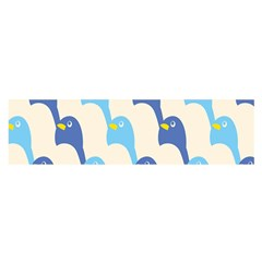 Animals Penguin Ice Blue White Cool Bird Satin Scarf (oblong) by Mariart