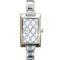 Alarm Clock Hour Circle Rectangle Italian Charm Watch by Mariart
