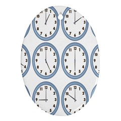 Alarm Clock Hour Circle Ornament (oval) by Mariart