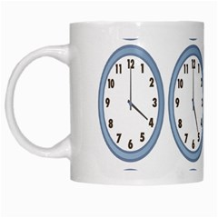 Alarm Clock Hour Circle White Mugs by Mariart