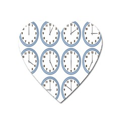 Alarm Clock Hour Circle Heart Magnet by Mariart