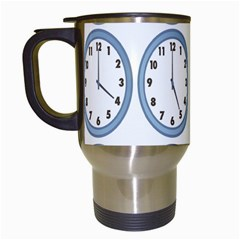Alarm Clock Hour Circle Travel Mugs (white) by Mariart