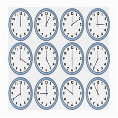 Alarm Clock Hour Circle Medium Glasses Cloth (2 Side) by Mariart