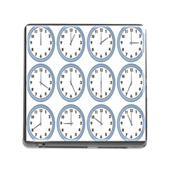 Alarm Clock Hour Circle Memory Card Reader (square) by Mariart