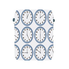 Alarm Clock Hour Circle Apple Ipad 2/3/4 Protective Soft Cases by Mariart