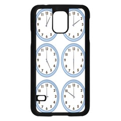 Alarm Clock Hour Circle Samsung Galaxy S5 Case (black) by Mariart
