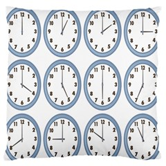 Alarm Clock Hour Circle Large Flano Cushion Case (two Sides)