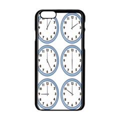 Alarm Clock Hour Circle Apple Iphone 6/6s Black Enamel Case by Mariart