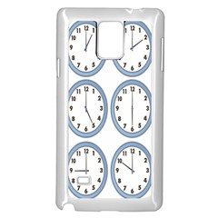 Alarm Clock Hour Circle Samsung Galaxy Note 4 Case (white) by Mariart