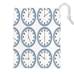 Alarm Clock Hour Circle Drawstring Pouches (xxl) by Mariart