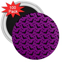 Animals Bad Black Purple Fly 3  Magnets (100 Pack) by Mariart