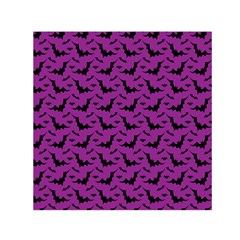 Animals Bad Black Purple Fly Small Satin Scarf (square) by Mariart