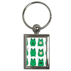 Animals Frog Green Face Mask Smile Cry Cute Key Chains (rectangle)  by Mariart