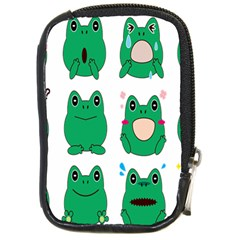 Animals Frog Green Face Mask Smile Cry Cute Compact Camera Cases by Mariart