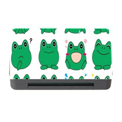 Animals Frog Green Face Mask Smile Cry Cute Memory Card Reader With Cf by Mariart