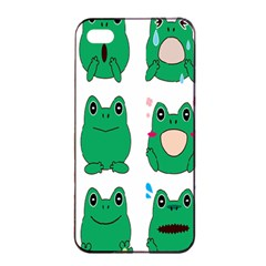 Animals Frog Green Face Mask Smile Cry Cute Apple Iphone 4/4s Seamless Case (black) by Mariart