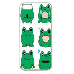 Animals Frog Green Face Mask Smile Cry Cute Apple Seamless Iphone 5 Case (clear) by Mariart