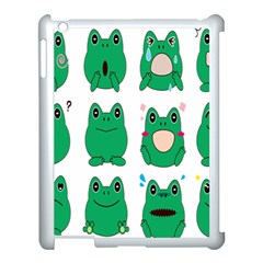Animals Frog Green Face Mask Smile Cry Cute Apple Ipad 3/4 Case (white) by Mariart