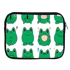 Animals Frog Green Face Mask Smile Cry Cute Apple Ipad 2/3/4 Zipper Cases by Mariart