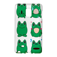 Animals Frog Green Face Mask Smile Cry Cute Galaxy Note Edge by Mariart