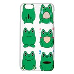 Animals Frog Green Face Mask Smile Cry Cute iPhone 6 Plus/6S Plus TPU Case Front