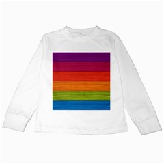 Wooden Plate Color Purple Red Orange Green Blue Kids Long Sleeve T Shirts by Mariart
