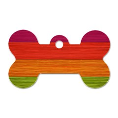 Wooden Plate Color Purple Red Orange Green Blue Dog Tag Bone (one Side) by Mariart