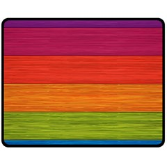 Wooden Plate Color Purple Red Orange Green Blue Fleece Blanket (medium)