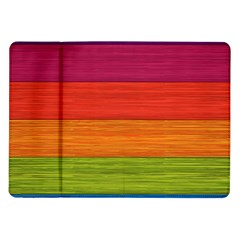 Wooden Plate Color Purple Red Orange Green Blue Samsung Galaxy Tab 10 1  P7500 Flip Case by Mariart