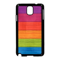 Wooden Plate Color Purple Red Orange Green Blue Samsung Galaxy Note 3 Neo Hardshell Case (black) by Mariart