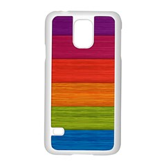 Wooden Plate Color Purple Red Orange Green Blue Samsung Galaxy S5 Case (white) by Mariart