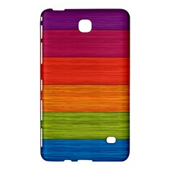 Wooden Plate Color Purple Red Orange Green Blue Samsung Galaxy Tab 4 (8 ) Hardshell Case  by Mariart