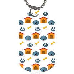 Bone House Face Dog Dog Tag (two Sides) by Mariart