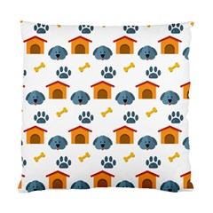 Bone House Face Dog Standard Cushion Case (two Sides) by Mariart