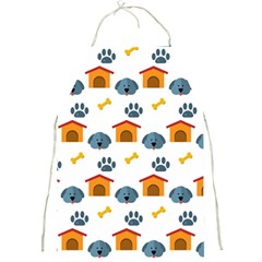 Bone House Face Dog Full Print Aprons by Mariart
