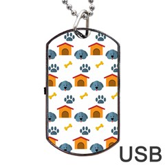Bone House Face Dog Dog Tag Usb Flash (one Side) by Mariart
