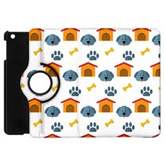 Bone House Face Dog Apple Ipad Mini Flip 360 Case