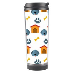 Bone House Face Dog Travel Tumbler by Mariart
