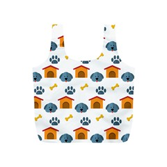 Bone House Face Dog Full Print Recycle Bags (s)  by Mariart
