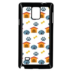 Bone House Face Dog Samsung Galaxy Note 4 Case (black) by Mariart